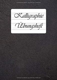 Zeszyt do kaligrafii: 9 różnych liniatury do kaligrafii i ręcznego liternictwa w jednej książeczce | DIN A4 | 110 arkuszy ...