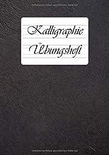 Zeszyt do kaligrafii: 9 różnych liniatury do kaligrafii i ręcznego liternictwa w jednej książeczce   DIN A4   110 arkuszy ...