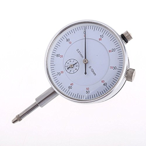 Vktech Dial Indicator Gauge 0-10mm Meter Precise 0.01Resolution Concentricity Test