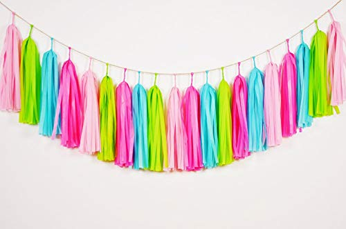 Tissue Paper Tassel DIY Party Garland Decor for All Events & Occasions ,20 Tassels Per Package