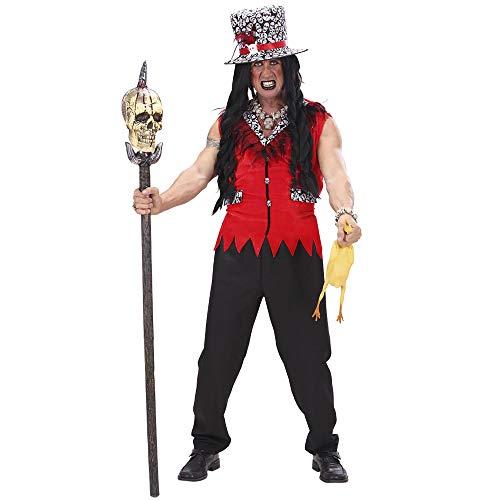 Widmann 73592 Kostüm Voodoo Priester, Herren, Schwarz/Rot, M