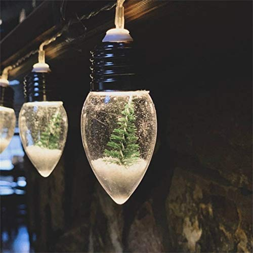 Luce a forma di globo di neve per albero di Natale, per interni colorati parco giochi di Natale, per feste di Natale, feste, casa, patio, decorazione esterna (1 pz)
