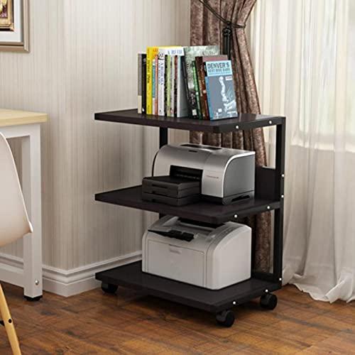 WSNBB Gabinete De Audio Móvil, Estante De Impresora De Escritorio, Equipo De Audio, La Altura del Estante del Gabinete De Oficina Se Puede Subir Y Bajar, 50 * 40 * 75 CM (Color : Black)