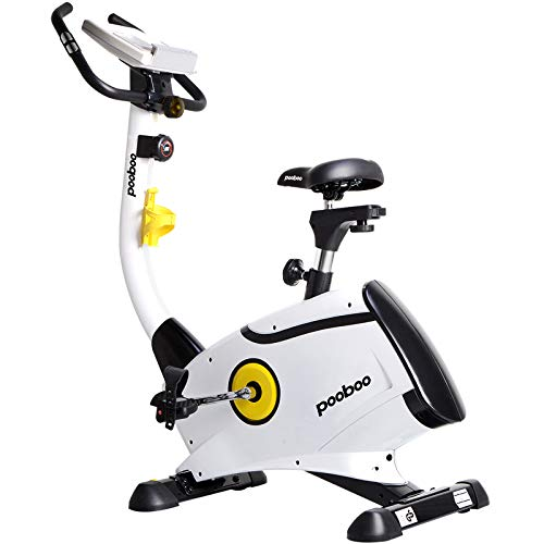 L NOW Exercise Bike Indoor Cycling Bike Stationary Bike, Belt Drive Magnetic Resistance Upright Bike for Home Office Cardio Workout Bike Training With LCD Display