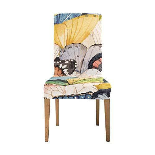 Dinnig Stuhlbezug Schöne romantische Spring View Flower Dining Covers Stühle Soft Stretch Seat Dining Chair Cover Waschbare abnehmbare Print Stuhlhussen für Esszimmer für Zuhause