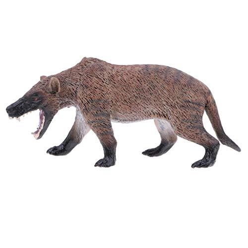 F Fityle Plástico Realista Lobo Salvaje Modelo de Animal Salvaje Figura de Acción Muñeca de Juguete para Niños Pequeños, Decoración del Hogar, Coleccionable 16
