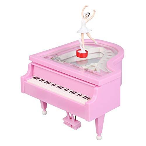 TZSHUQ Classic Piano Model Dansende Ballerina Muziek Box Hand Crank Muzikale Dozen Verjaardag Box Gift Home Decoratie roze