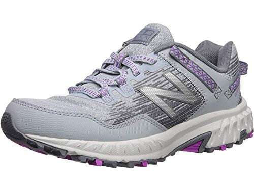 New Balance Women's 410 V6 Trail Running Shoe, Light Cyclone/Gunmetal/Voltage Violet, 5.5 W US