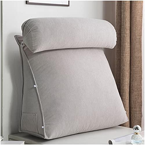 QWESHTU Almohada para Leer y TV, Almohada Ajustable Almohada de cuña Cojín Multiusos Confort Alivio del Dolor Soporte para la Espalda