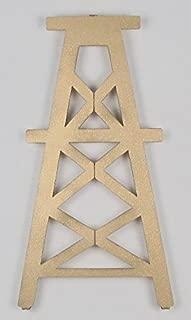 Metrotex Designs 12651 Lazer Cut Steel Medium Oil Derrick Wall Art-Gold Metallic Fleck