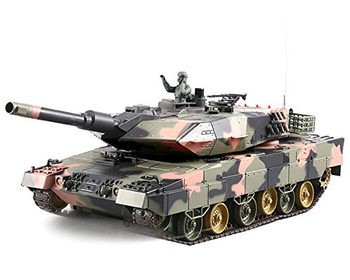 POCO DIVO Leopard IIA5 German Battle Tank RC Military Vehicle 1/24 Scale Model 2.4Ghz Remote Control Germany 2A5 Airsoft Panzer Combat Fight Infrared BB