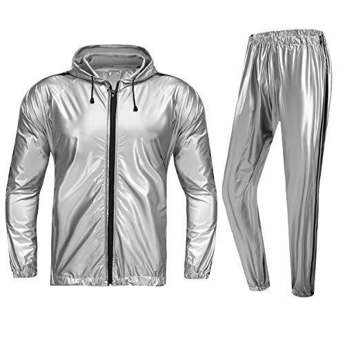 REEDBEEK Professioneller Sauna-Anzug mit durchgehendem Reißverschluss, Gewichtsverlust, Schwitzanzug, Boxen, MMA, Training, Fitnessstudio, Jacke, Hose, Workout-Anzüge für Männer und Frauen
