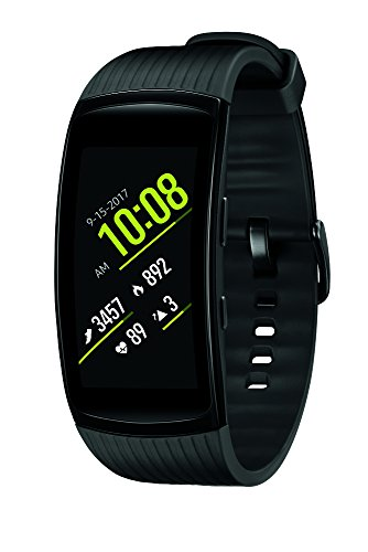 Samsung Gear Fit2 Pro Smartwatch Fitness Band (Large), Liquid Black, SM-R365NZKAXAR - US Version with Warranty