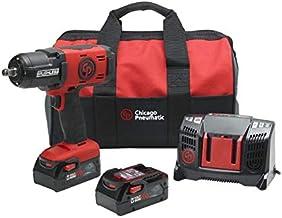 Chicago Pneumatic CP8849, kit de chave de impacto sem fio de 1,27 cm com (2) baterias de 6,0Ah, carregador e bolsa de viag...
