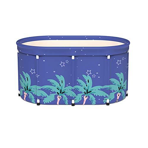 SYN-GUGAI Badewanne, Schwimmen Aufblasbarer Pool Planschbecken Whirlpool Für Kinder Klappbadewanne Home Adult Bath Barrel Body Badezimmer Kleine Wohnung Badepaar,100cm