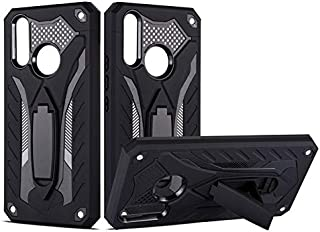 Shockproof Shockproof Scratch Resistant Dual Layer 2-in-1 Armor PC+TPU Protective Hard Stand Case Compatible With Vivo Y17/Vivo Y15/Vivo Y12/Vivo Y3 (Color : Black)