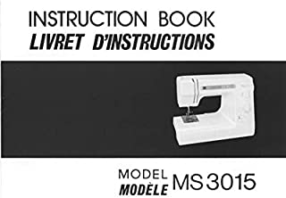 Janome Spare Part MS 3015 Sewing Machine Instruction Manual Reprint