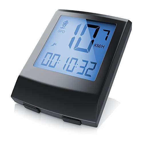 CSL - Fahrradcomputer - Fahrradtacho Radcomputer Tachometer - 8 Funktionen - Hintergrundbeleuchtung - Wasserdicht - Kilometerzähler