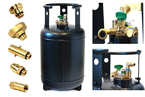Drehmeister Tankflasche 30 Liter mit 80% Multiventil & Adapter + Direktbetankungsadapter - Gasflasche wiederbefüllbar, Propangasflasche für Wohnmobil, Caravan, Camping