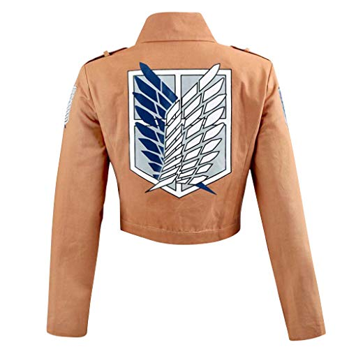 Attack on Titan Cosplay Jacke, Herren Damen Attack on Titan Jacke Aufkl?rungstrupp Uniform M?nner AOT Scouting Legion Jacke Anime Jacket Teenager Jungen Kinder Pullover Pulli Sweatshirt Shirt (01,L)¡­