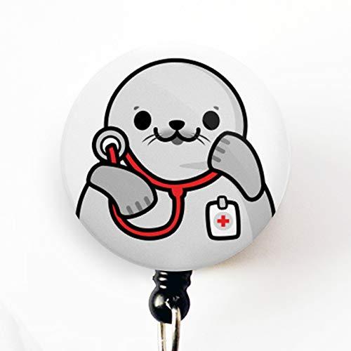Cute badge reel-Cute Stethoscope badge reel-Medical Badge Reel-Nurse-Doctor-Glitter Badge Reel-Stethoscope-Badge Reel-Flamingo-Cute Animals