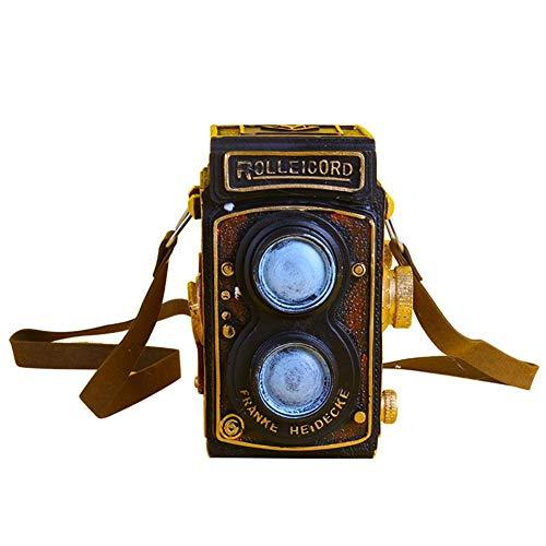 Kitabetty Decoración de cámara retro, modelo de grabadora de video de decoración de cámara vintage de resina creativa, accesorios de fotos y decoración de mesa, para decoración de café de pub en casa