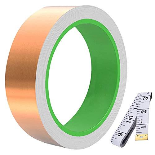 Youmile Cinta de lámina de cobre conductora de doble cara (30 mm...