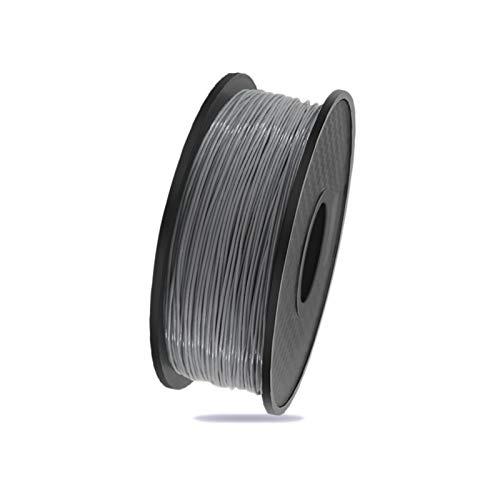 YANGDONG 1kg / Rolle 3D-Drucker Seidenfaden, 1,75mm PLA-Umweltschutzmaterial, 21 Farben Optional, 3D-Drucker, Druckstift, Graffiti-Stift Versorgungsmaterial (Color : Grey)
