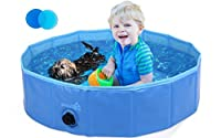 🐾 【Safe and Sturdy】: Adopted safe and non-toxic premium PVC material, time resistant, scratch proof! Built-in 0.5cm thickened high-strength compression Medium-Density Fibreboard, make the whole pool more sturdy, won't collapse! 🐾 【Multi-purpose】: Thi...