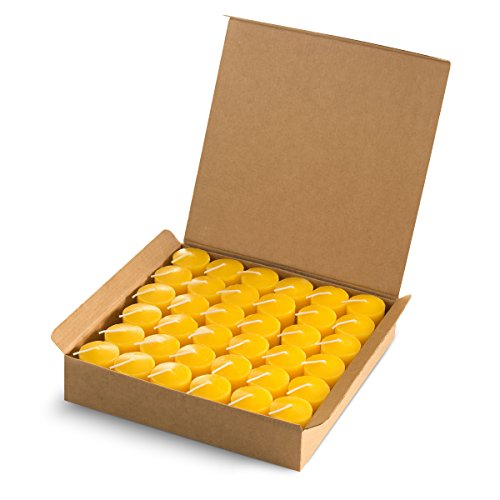 Votive Citronella Scented Candles 15 Hours - Summer Yellow - Set of 36