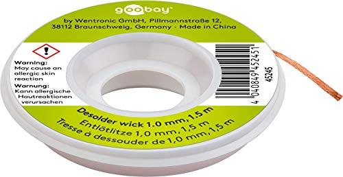 Fixpoint Soldadura desoldar para eliminación de estaño a 1,5m, 1pieza, 1mm