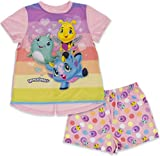 Hatchimals Girls' Big Hatch a Whole World 2 Piece Short Sleeve Pajama Set, Pink, Size 7/8