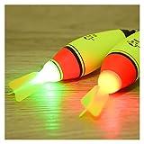 HKDZB 1 unid Luminoso 30G-100G Doble óptico Noche Intercambio Luz electrónica Aeroplano Alas Pesca de Roca Flotador EVA Espuma Bobber Herramienta de Pesca al Aire Libre Accesorios Engranajes Barco