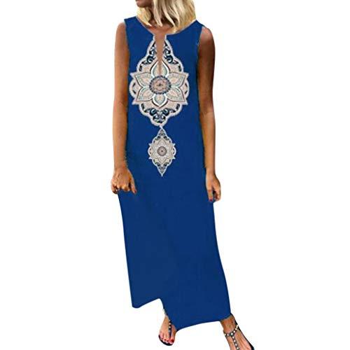 Tosonse Afrikanische Kleider Für Frauen Ärmelloses Maxikleid Mit Split Hem Baggy Beach Dresses