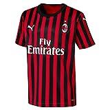 Puma AC Milan, Maglia Calcio Bambino, Rosso/Nero (Tango Red Black), 140
