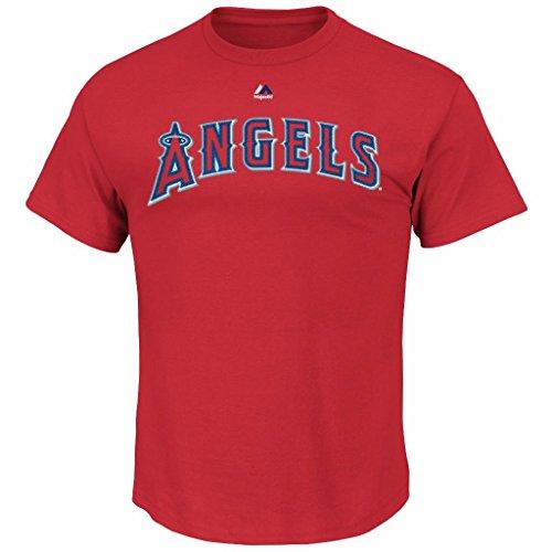 MLB Men's Big and Tall Team Wordmark II Cotton Crew Neck T-Shirt (6XL, Los Angeles Angels)