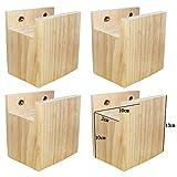 4 elevadores de muebles, elevadores de cama, patas de elefante, de madera, madera maciza de alta calidad, elevación de 10 cm (10 x 2 x 10 cm)