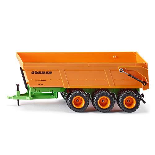 SIKU 2892, Joskin Dreiachs-Muldenkipper, 1:32, Metall/Kunststoff, Orange, Kippbare Mulde, Für SIKU Spielzeuge im Maßstab 1:32 mit Anhängerkupplung