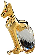 Crystal Asfour 50/370 Pharaonic Cat Decor - Transparent And Gold