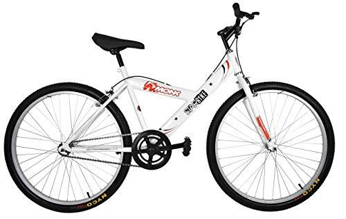 Bicicleta Económica de Montaña Modelo'Starbike', con Cuadro y Tijera de Acero, sin Suspensión, Rodada 26 1 Velocidad (Blanca)