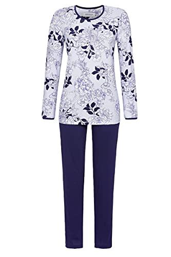 Ringella Damen Pyjama mit geblümtem Oberteil bleu 42 1511213,bleu, 42