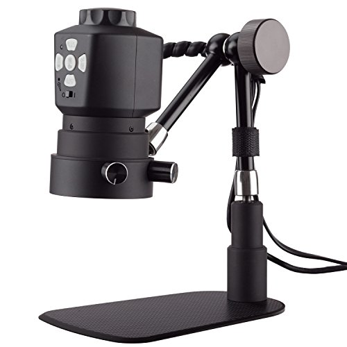 AmScope Tabletop Digital Microscope with Variable Working-Distance and 11in Articulating Arm