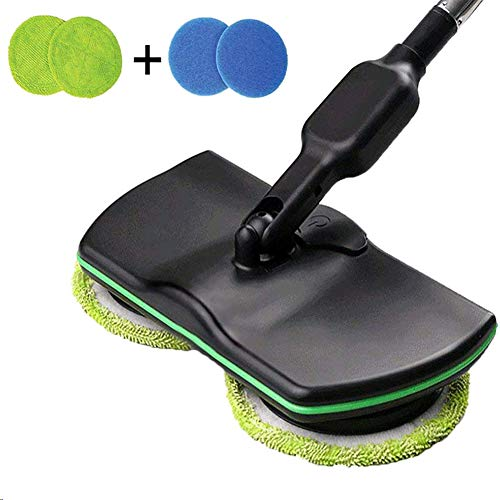 wireless electric rotary mop cleaning handheld spinning rechargeable powered floor cleaner scrubber sweeper broom floors mopping machine microfiber pads indoor use household hand-held portable automat