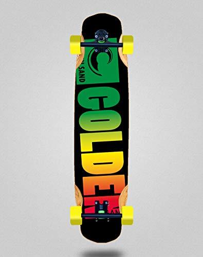 Skate Skateboard Longboard Complete Mix Bamboo 38x8.45 Golden Sand Degraded Rasta
