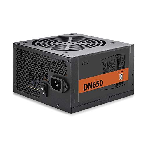 Deepcool DN650 650W Alimentatore Atx Pc Desktop da Gaming 650 Watt 80 Plus 230V EU con Ventola PWM da 120 mm PFC Attivo