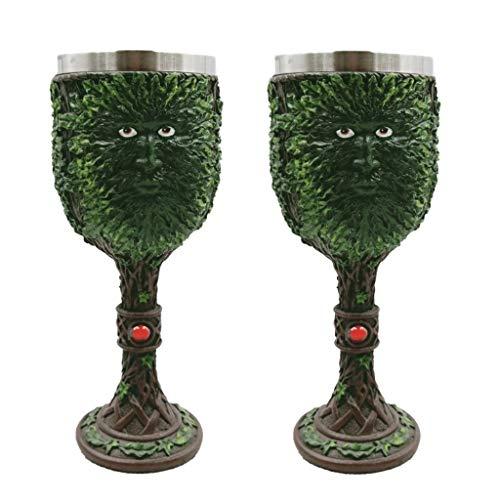 HLD Goblet Stainless Steel Resin Wine Glass Mug Sets