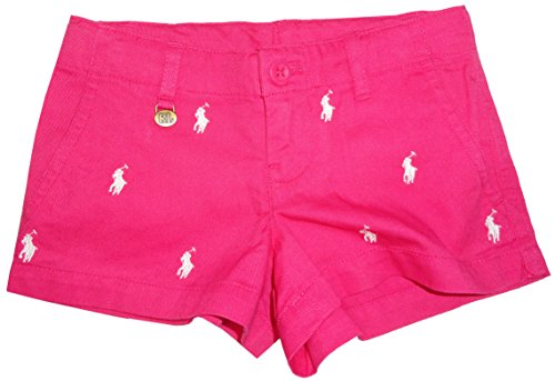 Ralph Lauren Polo Girls All Over Pony Shorts Ultra Pink (14)