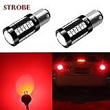 1991 Infiniti Q45 Performance Brakes - Alla Lighting BAY15D 7518 1157 LED Strobe Brake Lights Bulbs Xtreme Super Bright Red Flashing Stop Lamps Replacement 2057 3496 1154 1034