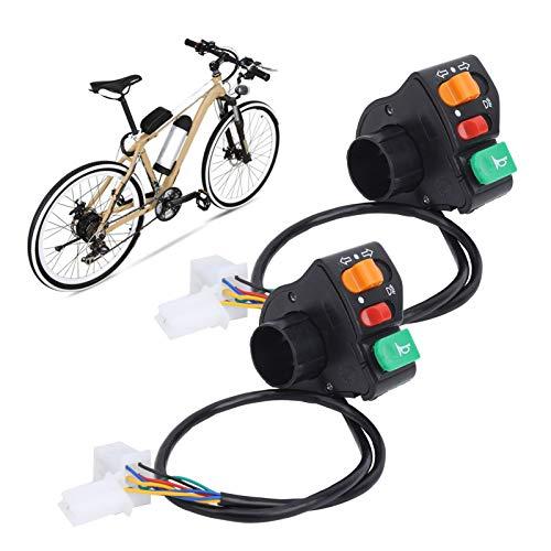 Fishawk Interruptor 3 en 1, Interruptor de Motocicleta Interruptor de Bicicletas eléctricas, para triciclos al Aire Libre Bicicletas eléctricas Scooters