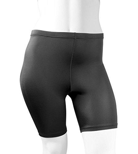 AERO|TECH|DESIGNS Plus Women's Spandex Exercise Compression Workout Shorts Black 4XL